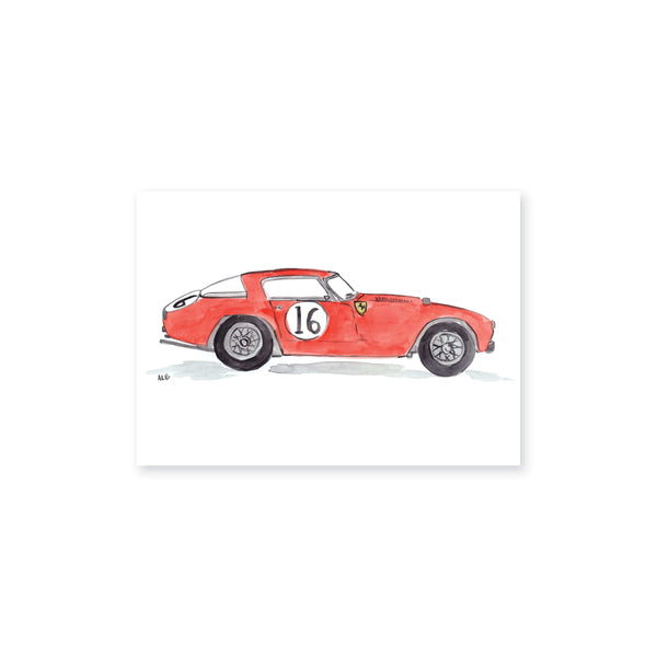 Vintage Race Car Art Print