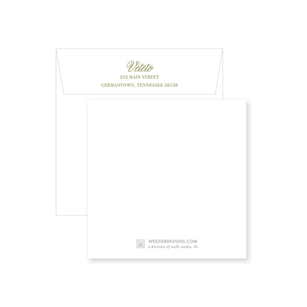 Weezie B. Designs | Elegant Yet Simple Rehearsal Dinner Invitation