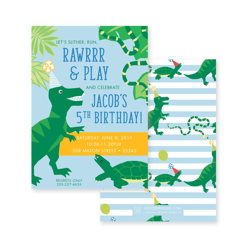Weezie B. Designs | Rawrrr, It's Your Birthday Invitation