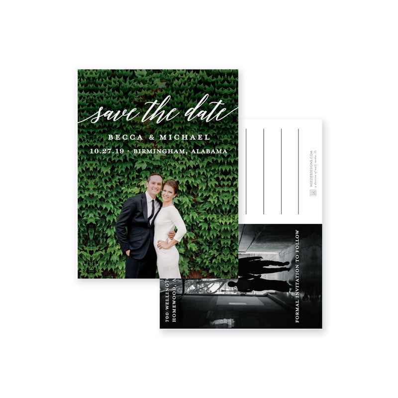 Weezie B. Designs | Save-The-Date | Modern Simple Post Card