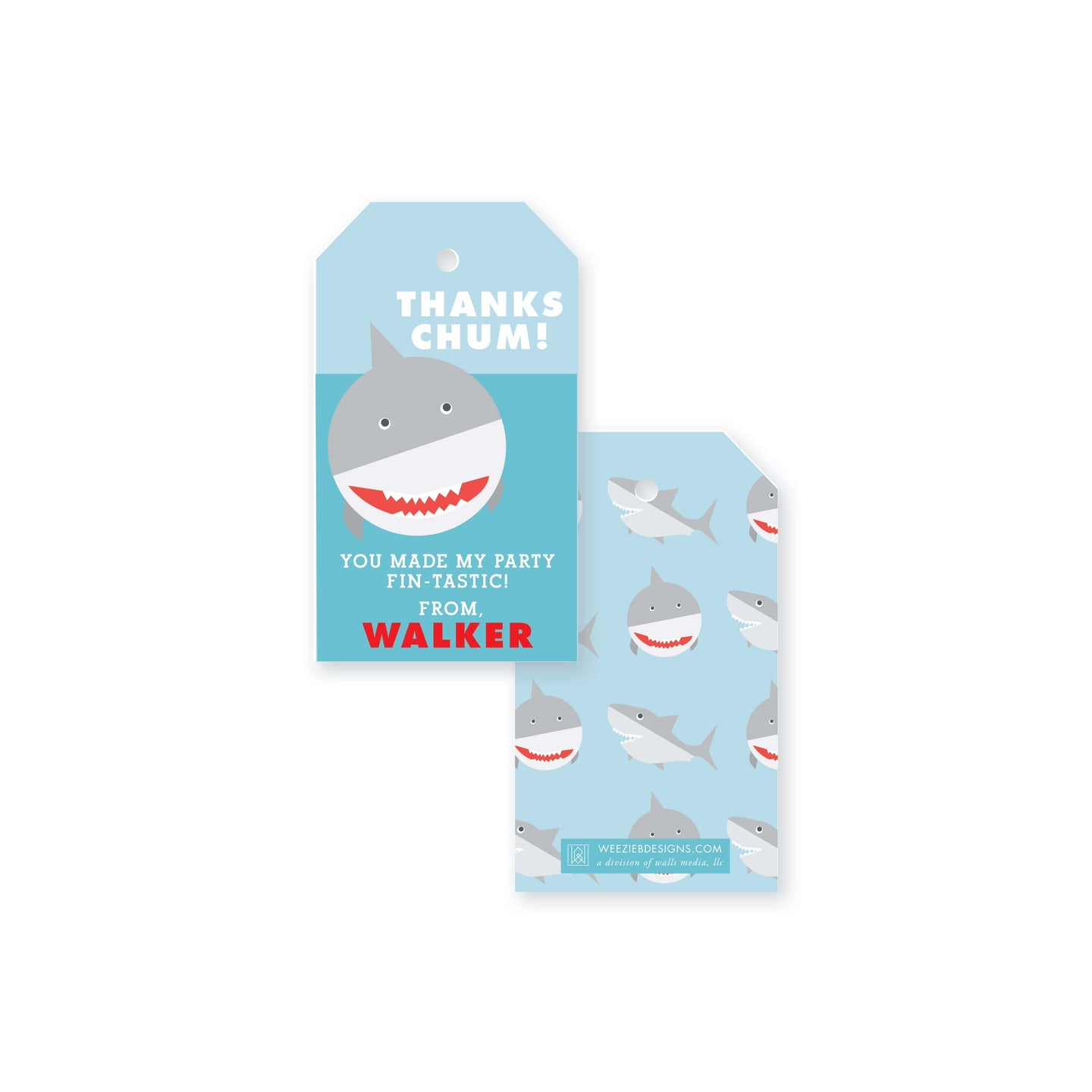 Watch Out For Sharks Gift Tag