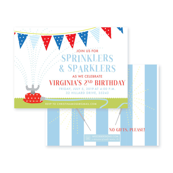 Sprinklers & Sparklers Birthday