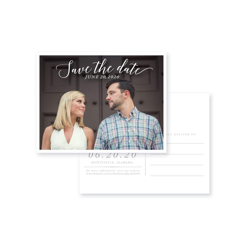 Weezie B. Designs | Kaitlyn & Jacob Photo Post Card
