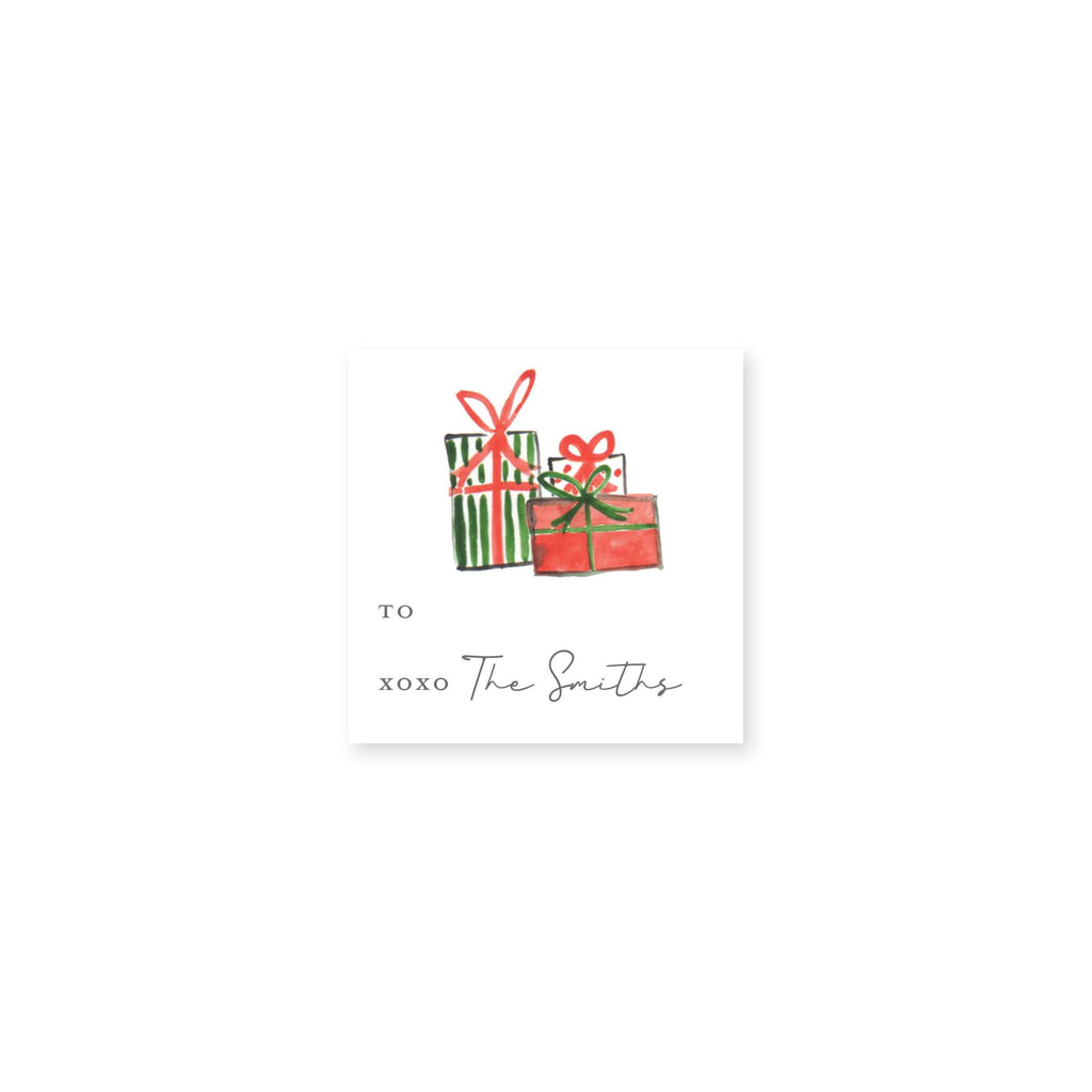 Weezie B. Designs | Watercolor Christmas Gifts Gift Stickers