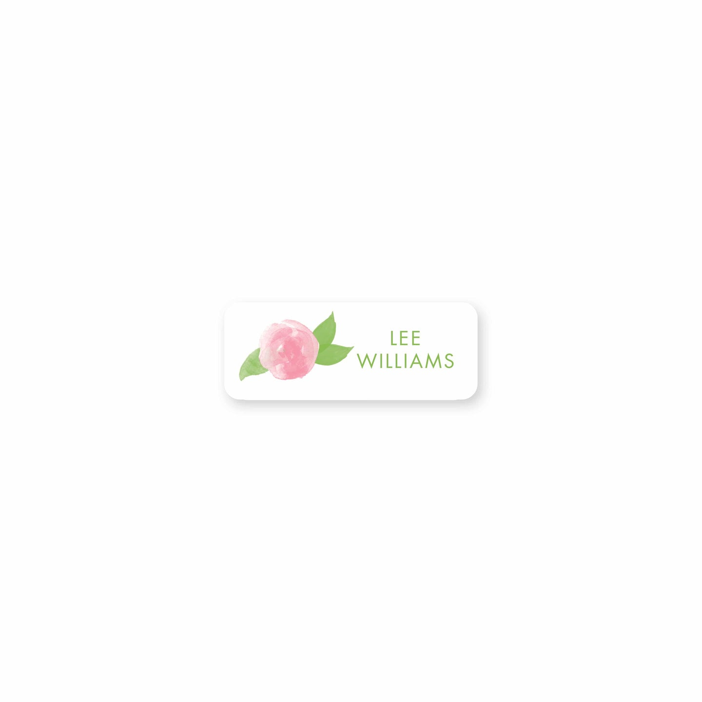 Weezie B. Designs | Watercolor Peony Permanent Sticker
