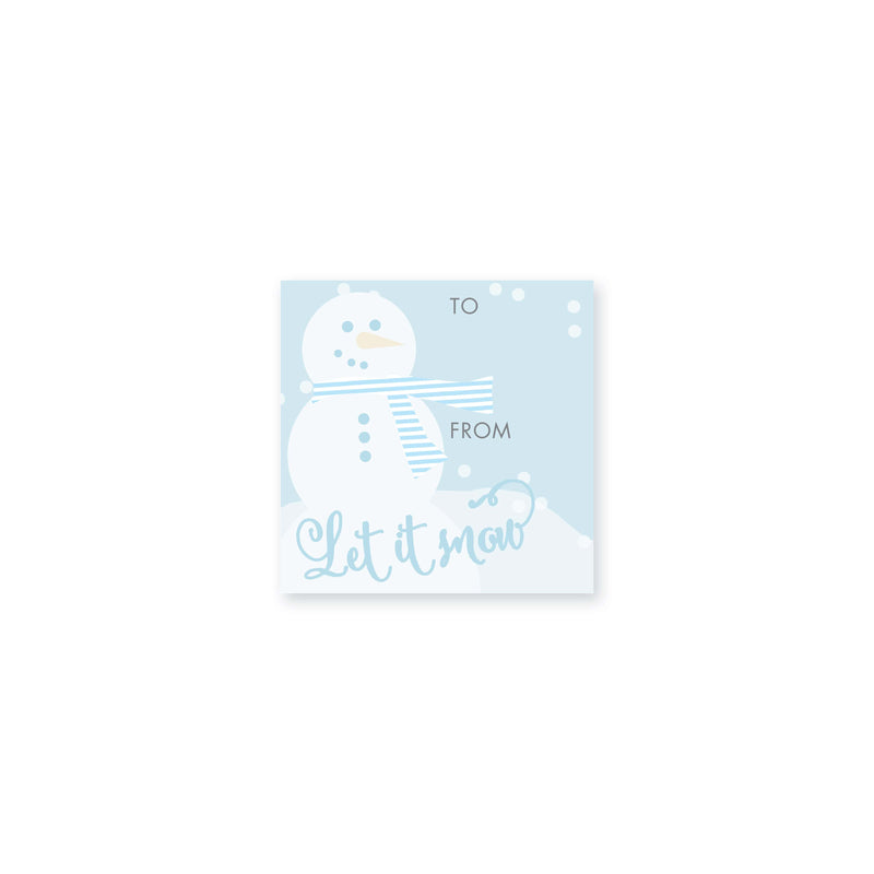 Weezie B. Designs | Let it Snow Gift Sticker