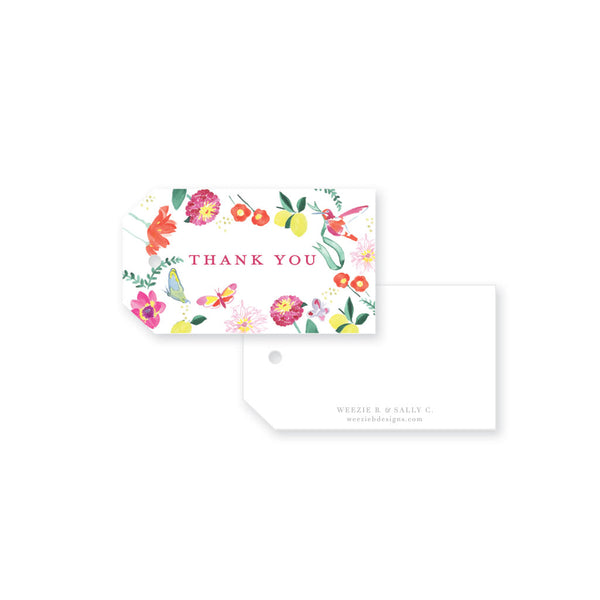 Weezie B. Designs | Butterfly Garden Gift Tag