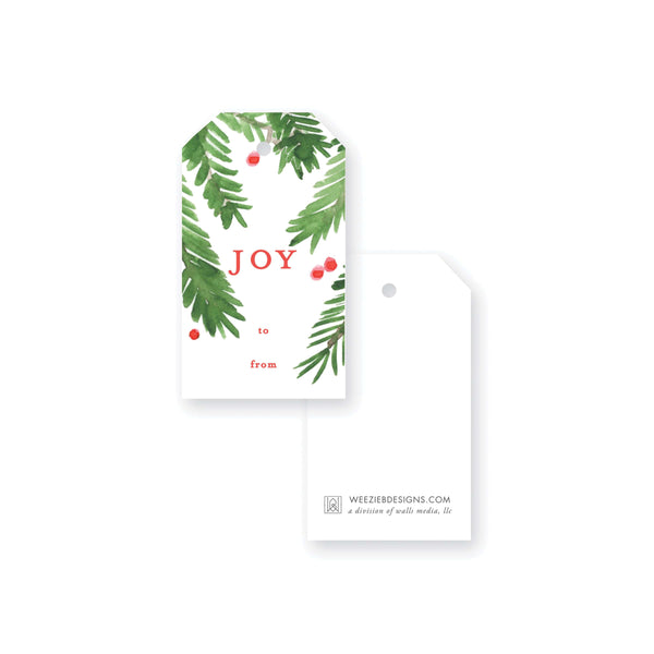 Weezie B. Designs | Our Evergreen Overlay with Berries | Gift Tags
