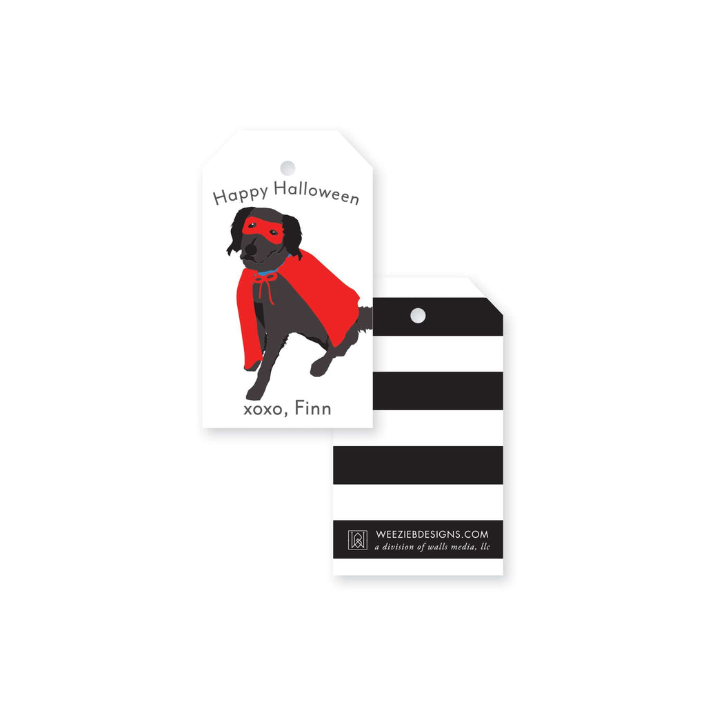 Weezie B. Designs | Halloween Lab Superhero Gift Tag