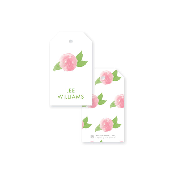 Weezie B. Designs | Watercolor Peony Gift Tag