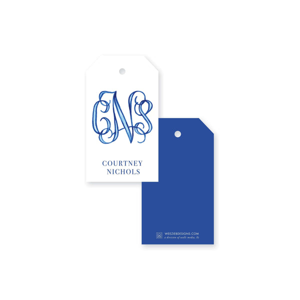 Weezie B. Designs | Watercolor Name or Monogram Gift Tag
