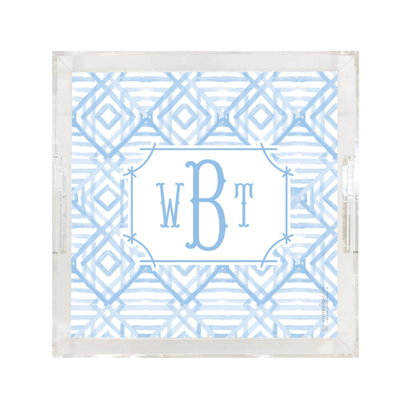 Weezie B. Designs | Watercolor Bamboo Large Acrylic Tray
