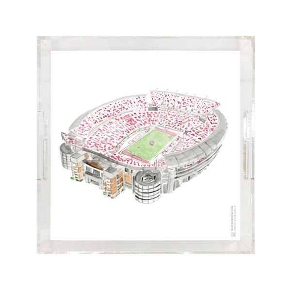 Bryant Denny Stadium Watercolor Tray