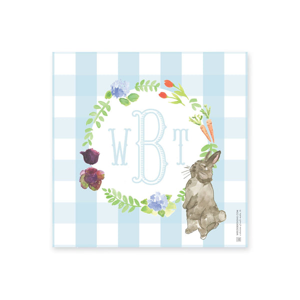 Weezie  B. Designs | Watercolor Garden Rabbit Tray Insert