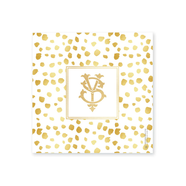 Weezie B. Designs | Gold On Gold Dots Medium Acrylic Tray