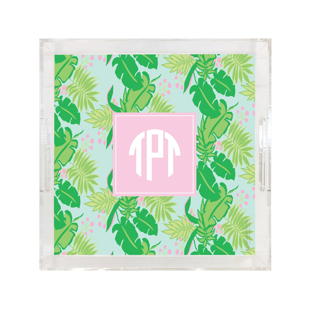 Weezie B. Designs | Bright & Tropical Square Large Acrylic Tray