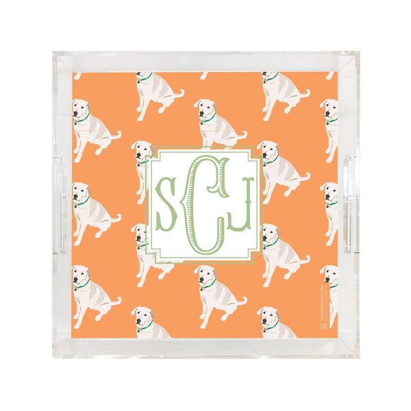 Dog on Repeat With Fishtail Monogram Tray