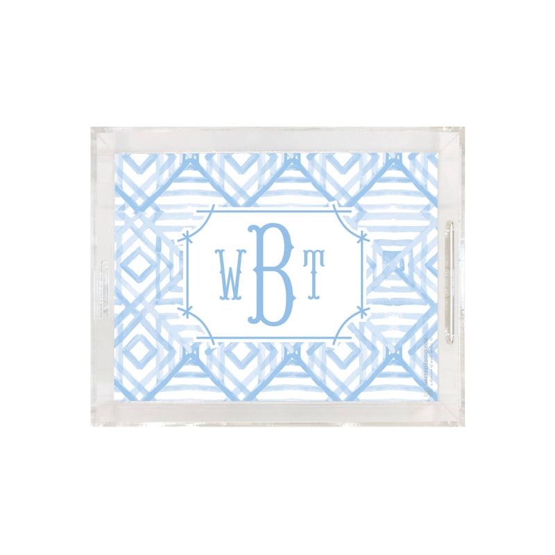 Weezie B. Designs | Watercolor Bamboo Medium Acrylic Tray