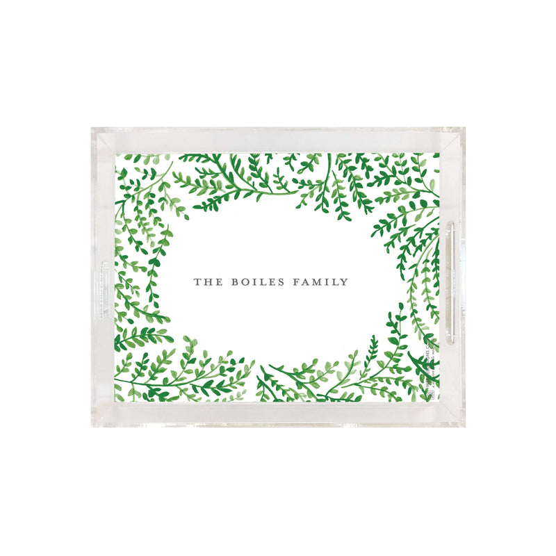 Weezie B. Designs | Spring Vines Small Square Acrylic Tray