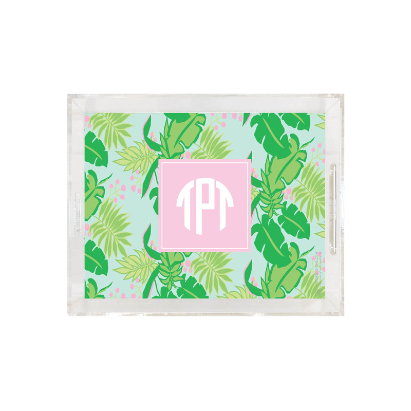 Weezie B. Designs | Bright & Tropical Small Square Acrylic Tray