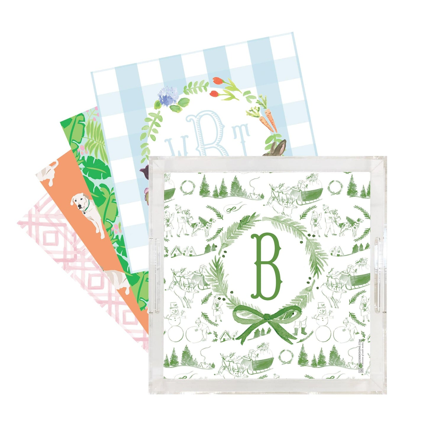 Weezie  B. Designs | All the Season Acrylic Tray with 5 Inserts Set