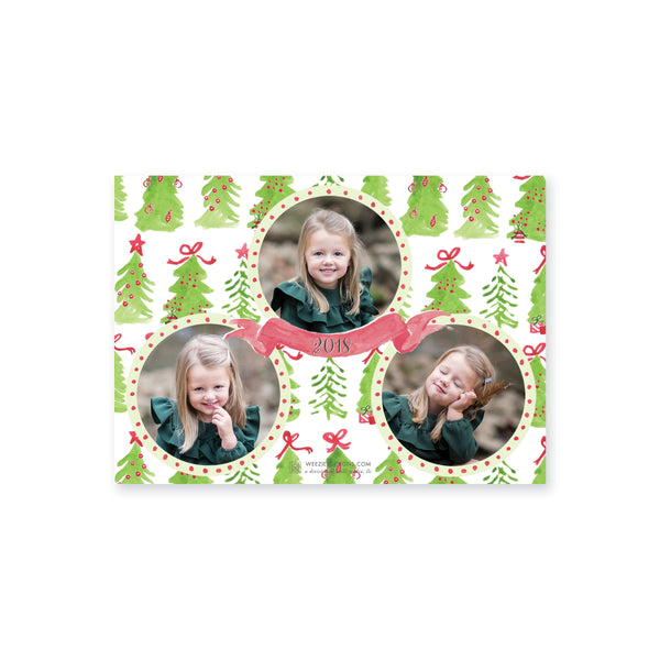 Weezie B. Designs | Trio of Watercolor Trees Christmas Card