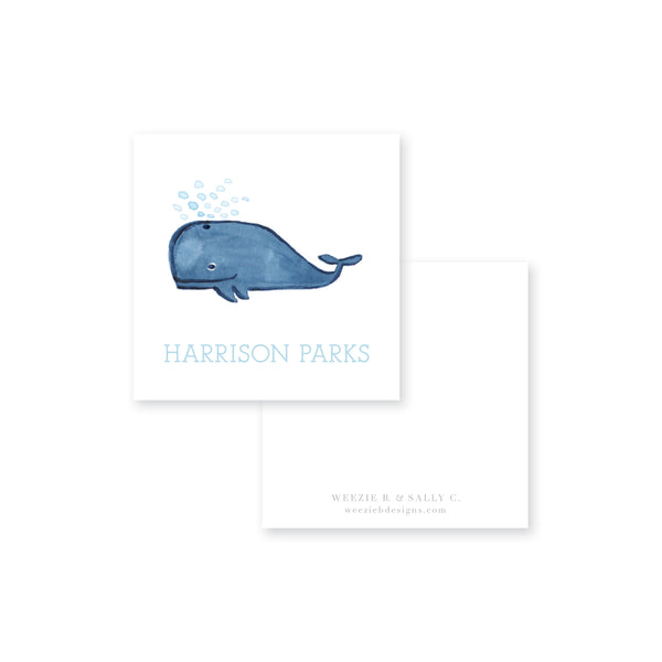 Weezie B. Designs | Whale Watercolor Calling Card