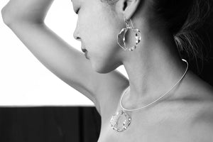 Sterling silver hoop necklaces and earrings by eko jewelry design