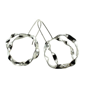 Large sterling silver hoop earrings by eko jewelry design, Skylar