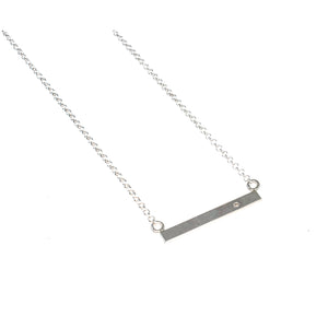 Sterling silver bar necklace with gemstone by eko jewelry design, Estee