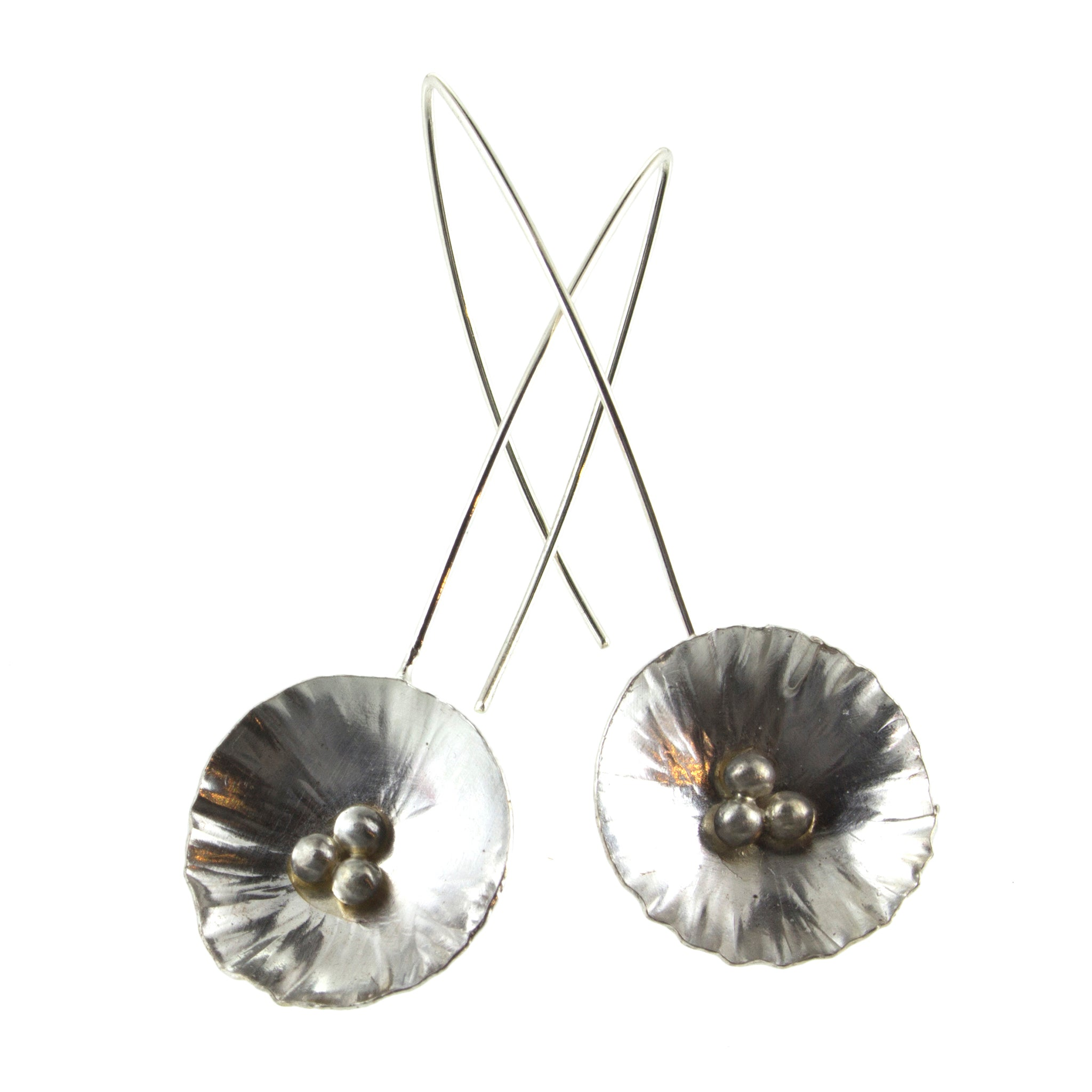 Sterling silver flower threader earrings by eko jewelry design, Allysa