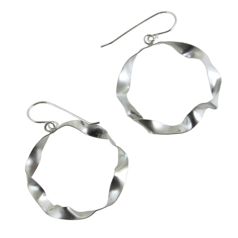 sterling silver large hoop earrings by eko jewelry design, Marisol
