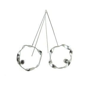 sterling silver hoop earrings with gemstones by eko jewelry design, Solange
