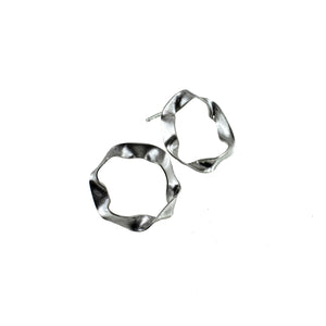sterling silver hoop stud earrings by eko jewelry design, Anora