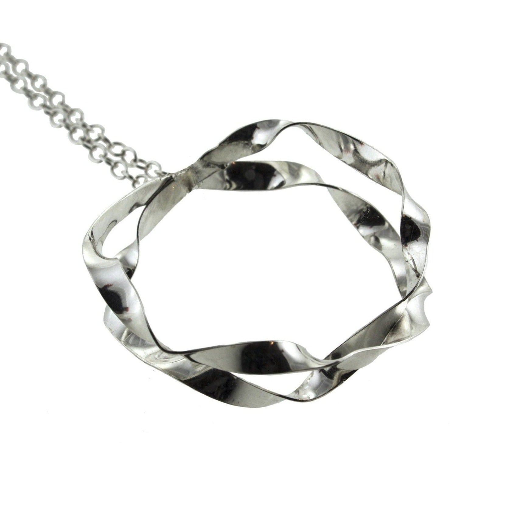 Sterling silver large hoop necklace by eko jewelry design, Cyanea