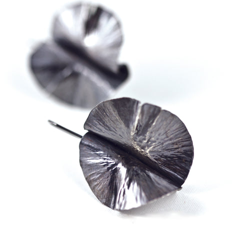 sterling silver leaf earrings by eko jewelry design, Shasta