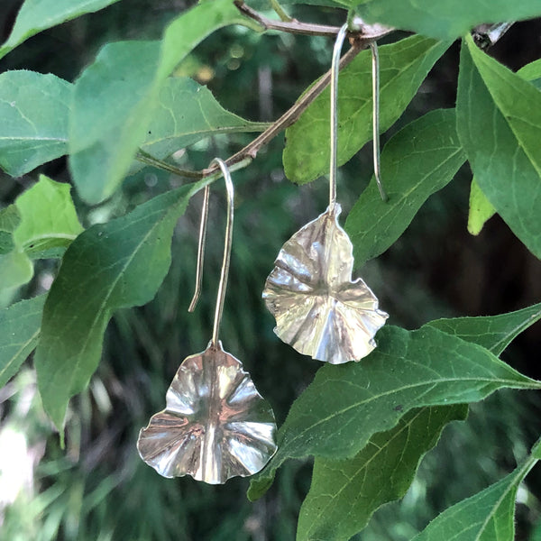 sterling silver leaf earrings by eko jewelry design, Sierra
