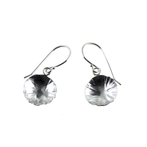 sterling silver round leaf earrings by eko jewelry design, Deanna