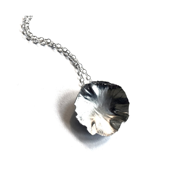 Sterling silver round leaf necklace by eko jewelry design, Arden