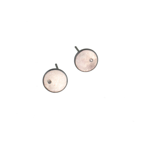 Sterling silver round earrings with gemstones by eko jewelry design, Pleiade