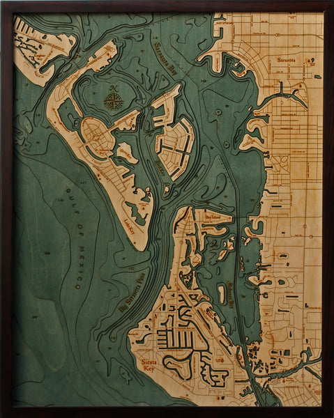 Nautical Chart Lido Key and Siesta Key
