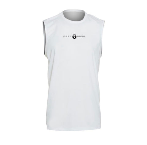 White Mens Tech Top Sleevless