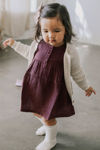 Short Sleeve Dress in Berry Sorbet - WildLittleFawns