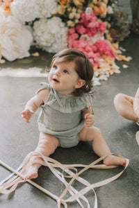 Luna Playsuit in Sage - WildLittleFawns