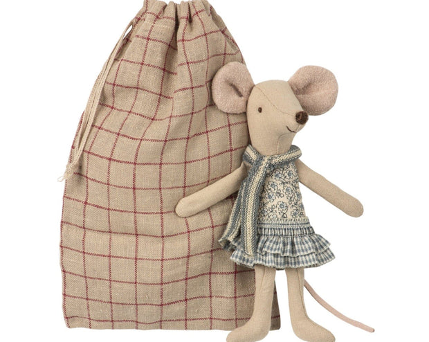 Winter Mouse Big Sister in Bag