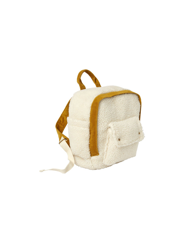 Corduroy Mini Backpack - Natural Rylee & Cru