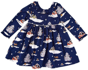 Princess Diana Dress Navy - Pink Chicken