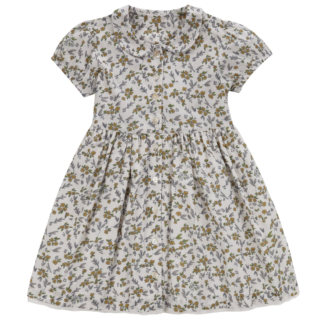 Audrey Dress Yellow Meadow Floral - WildLittleFawns