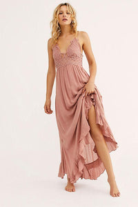 ADELLA MAXI SLIP in Rose - WildLittleFawns