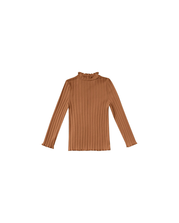 Girls Ribbed Longsleeve Tee - Cinnamon Rylee & Cru